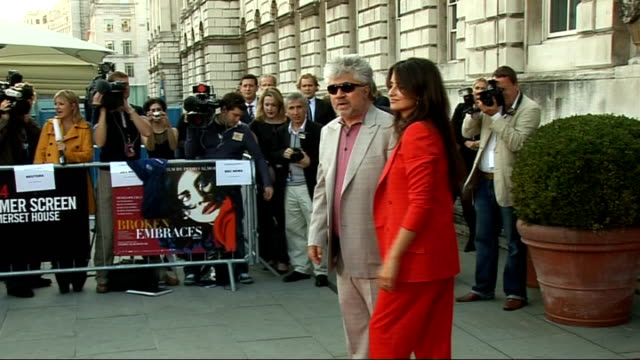 Broken Embraces Interviews with Pedro Almodovar and Penelope Cruz ENGLAND London Somerset House EXT Press waiting outside Somerset House / Crash...