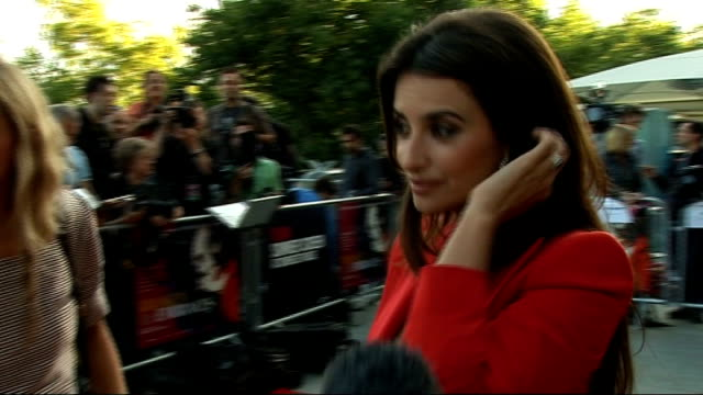 Broken Embraces Interviews with Pedro Almodovar and Penelope Cruz Penelope Cruz interview SOT On being passionate about Almodovar's new film Cruz...