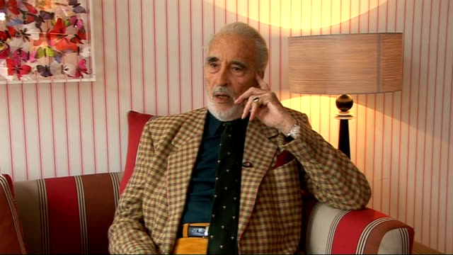 christopher lee interview; christopher lee interview sot - tells how ian fleming initially wanted him to play in dr no, but when he talked to the... - christopher lee actor stock videos & royalty-free footage