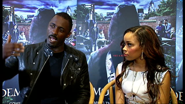'Demons Never Die' / interview Idris Elba and Dionne Bromfield INT Idris Elba interview SOT hopefully people will feel proud being from London...