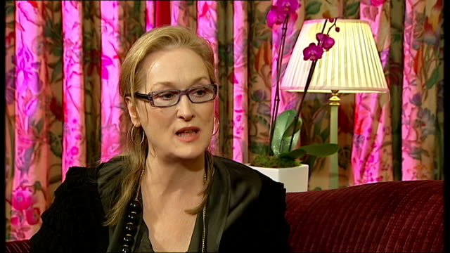 Doubt / interview with Meryl Streep Meryl Streep interview SOT events that led her to marry early to get out of the house / events that after her...