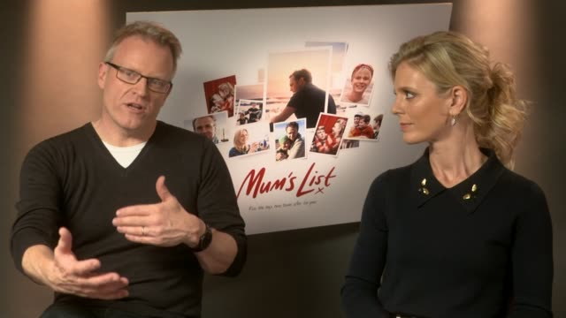 """dying mothers bucket list inspires new film """"mum's list""""; london: niall johnson interview sot somerset: clevedon: ext view over the town - bucket list stock videos & royalty-free footage"""