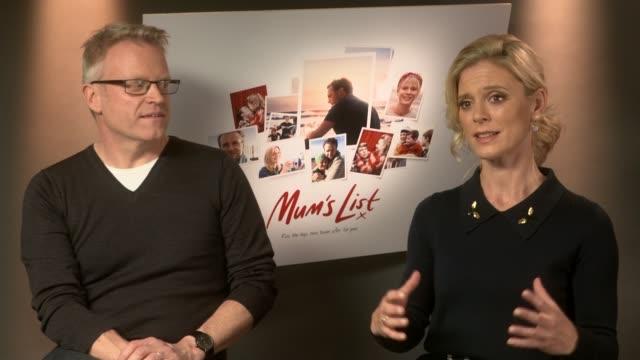 "dying mothers bucket list inspires new film ""mum's list""; london: int emilia fox interview sot - bucket list stock videos & royalty-free footage"