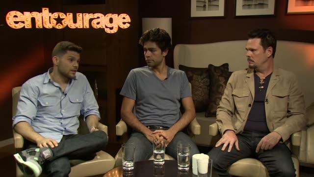 'Entourage The Movie' junket Adrian Grenier Kevin Dillon Jerry Ferrara interview SOT