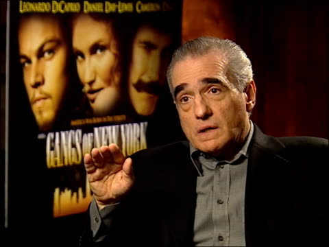 'gangs of new york'; martin scorsese interview sot - says it does get harder / i have passion for nature of the material / stress of fighting for... - ギャング・オブ・ニューヨーク点の映像素材/bロール