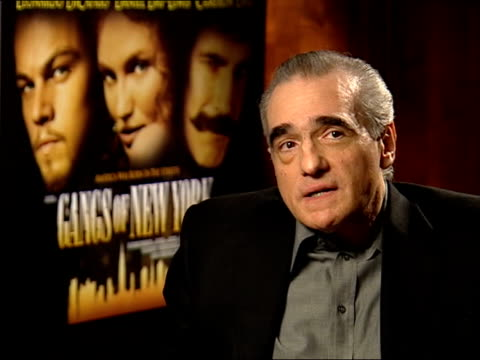 'gangs of new york'; scorsese interview sot - films i made in 70s, if you didn't win an oscar for that - it's a sign - just be thankful you got the... - ギャング・オブ・ニューヨーク点の映像素材/bロール