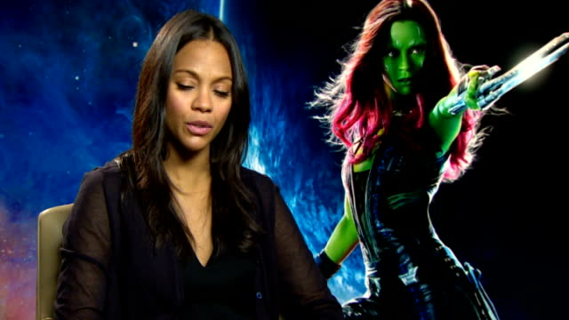 'Guardians of the Galaxy' Cast interviews Zoe Saldana interview SOT Chris Pratt interview SOT