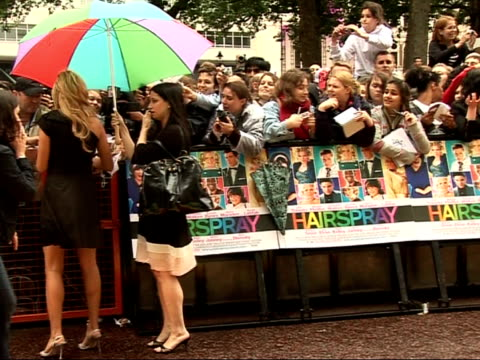 'hairspray' premiere in leicester square: red carpet interviews; amanda bynes signing autographs/ andy serkis speaking to reporters and interview sot - andy serkis stock videos & royalty-free footage