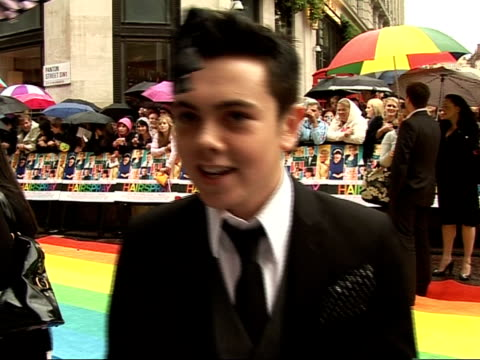 'Hairspray' premiere in Leicester Square Red carpet interviews Amanda Bynes talking to reporters/ Ray Quinn speaking to reporters and interview SOT