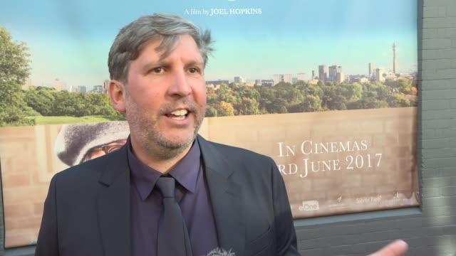 hampstead premiere red carpet interviews joel hopkins interview sot - joel hopkins video stock e b–roll