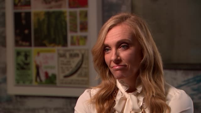 toni collette interview; england: london: int toni collette interview re horror film 'hereditary' sot - toni collette stock videos & royalty-free footage
