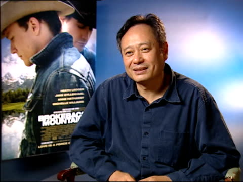Interview with film director Ang Lee ENGLAND London INT Ang Lee interviewed SOT I got attracted to this about the same time as 'The Hulk' got tears...