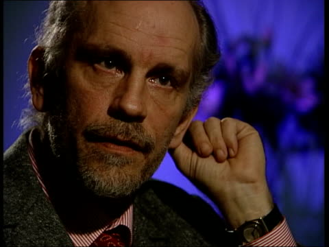 John Malkovich Views on America and the Afghan conflict ENGLAND London INT John Malkovich interview SOT I couldn't be more American / Completely...