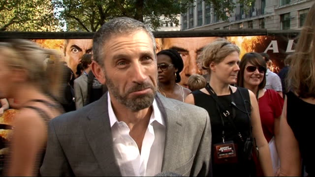 johnny english reborn premiere mark ivanir interview sot working on the tv series transporter based on the films of the same name / talks about the... - daniel kaluuya stock videos and b-roll footage