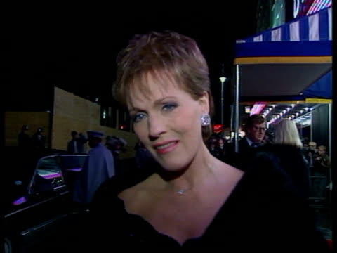 julie andrews given special bafta award; england: london: leicester square: ext cms julie andrews intvw sof. - bette davis a great loss as she paved... - julie andrews stock videos & royalty-free footage