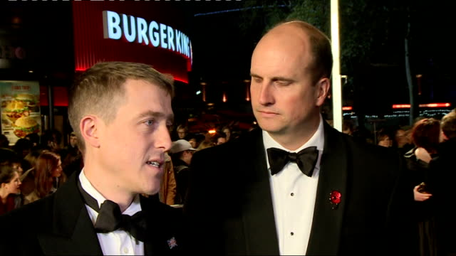 'kajaki the true story' premiere england london leicester square throughout*** andrew de lotbiniere and tom williams interview sot / paul katis... - scriptwriter stock videos & royalty-free footage