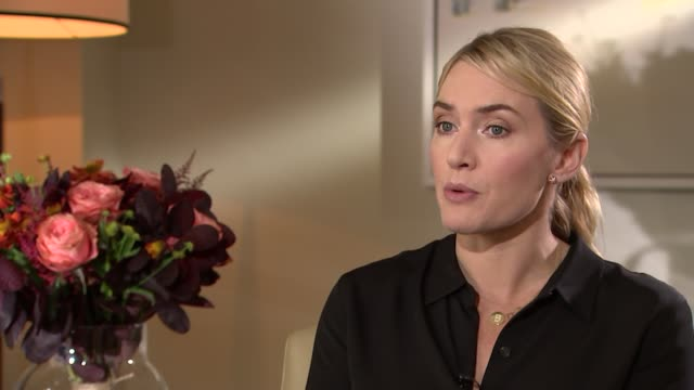 kate winslet and michael fassbender interviews; england: london: int kate winsley interview sot - re 'steve jobs' film michael fassbender interview... - kate winslet stock videos & royalty-free footage