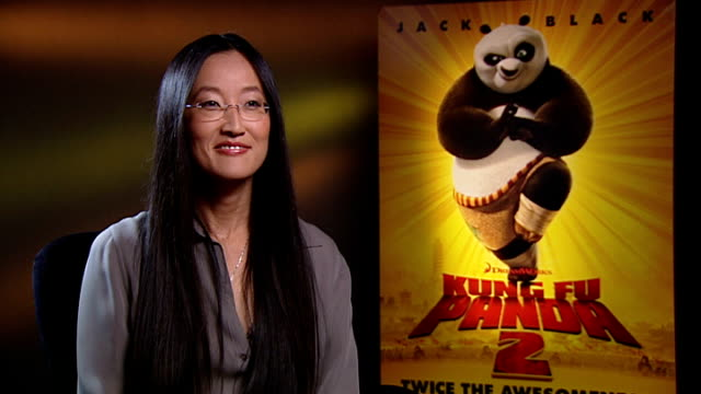 kung fu panda 2 jennifer yuh nelson / jack black interviews england london int jennifer yuh nelson interview sot cast great fun to work with on the... - dustin hoffman video stock e b–roll