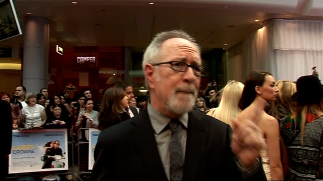 Larry Crowne London premiere / red carpet arrivals Gary Goetzman interview SOT On it being fun making the film On dream team working with Julia...