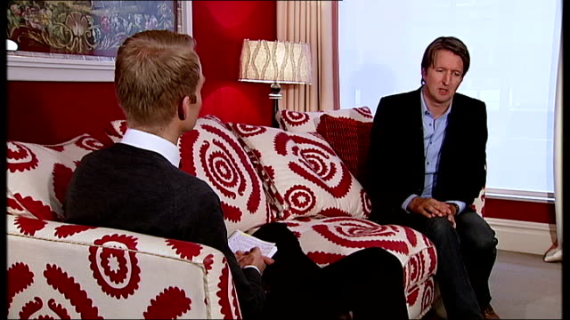 les miserables interview tom hooper london int tom hooper interview sot good way to cut your teeth is television / grateful for the experience /... - eastenders stock videos and b-roll footage