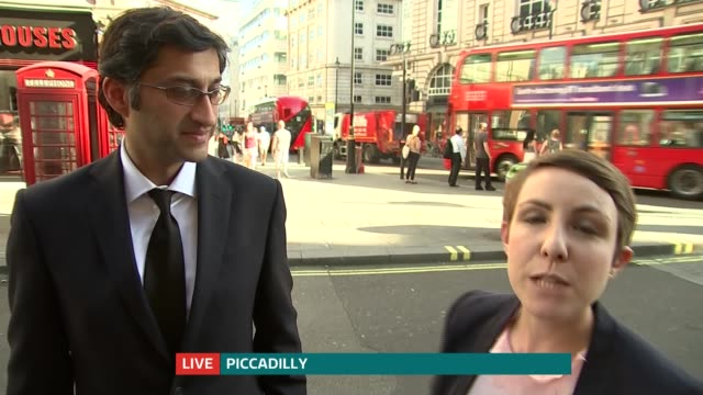 London premiere of documentary 'Amy' ENGLAND London EXT Reporter to camera Asif Kapadia LIVE interview SOT