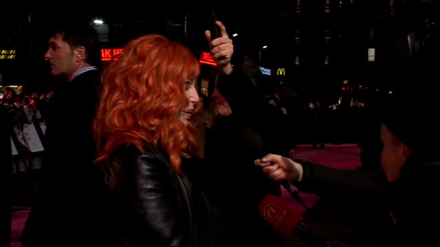 london premiere of film burlesque gvs cher cher interview sot on career you keep doing it because you enjoy it it's like telling picasso to stop... - バーレスク点の映像素材/bロール