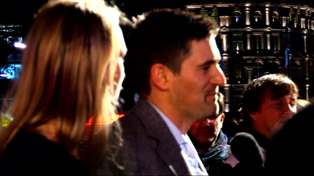 stockvideo's en b-roll-footage met me and orson welles premiere film director richard linklater speaking to press tom chambers interview sot talks about dancer camilla dallerup quiting... - richard linklater