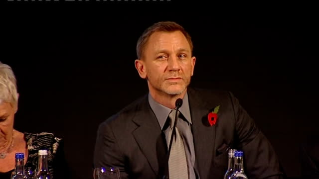name of new bond film revealed press conference q what does skyfall mean broccoli press conference sot has some emotional context which will be... - skyfall stock videos and b-roll footage