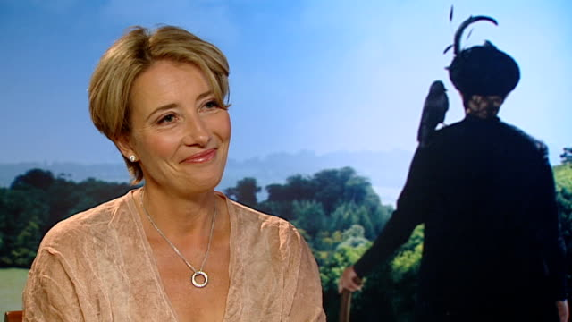 'nanny mcphee and the big bang' london premiere emma thompson interview sot on her character of nanny mcphee in nanny mcphee and the big bang / on... - emma thompson stock videos and b-roll footage