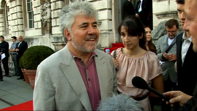 New Penelope Cruz film 'Broken Embraces' premiered at Somerset House photocalls and interviews Pedro Almodovar speaking to reporter SOT On what the...