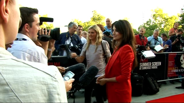 New Penelope Cruz film 'Broken Embraces' premiered at Somerset House photocalls and interviews More general views Cruz being interviewed / Cruz away...
