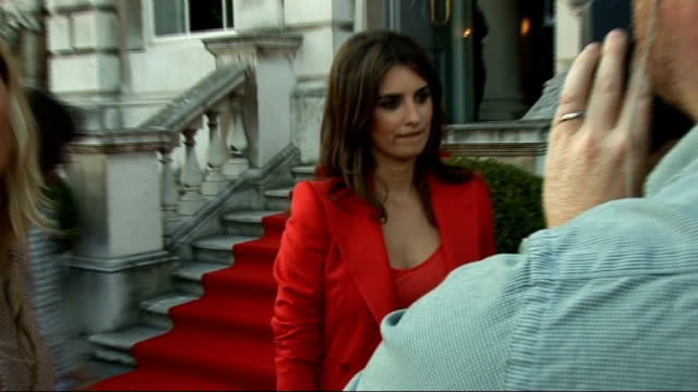 New Penelope Cruz film 'Broken Embraces' premiered at Somerset House photocalls and interviews General views Penelope Cruz speaking to reporter SOT...