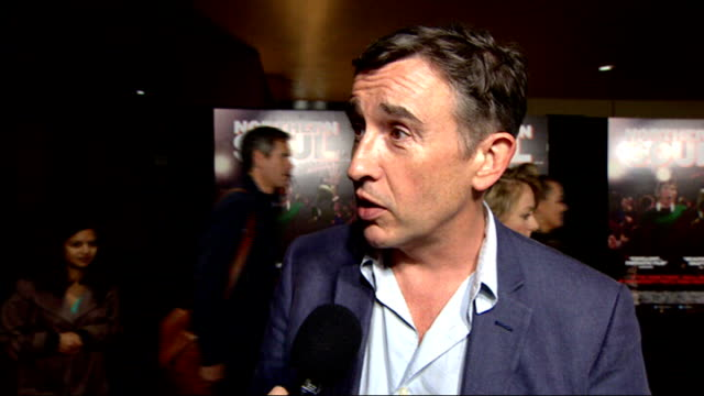 """northern soul"" creates social media buzz; steve coogan interview sot - steve coogan stock videos & royalty-free footage"