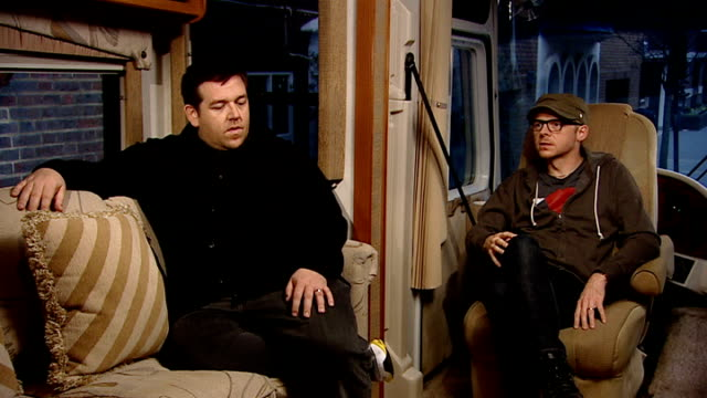 'paul' interviews with simon pegg and nick frost england london int simon pegg and nick frost interview sot talk about rvs more popular in america... - simon pegg stock videos & royalty-free footage