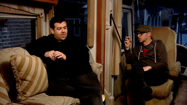 'paul' interviews with simon pegg and nick frost simon pegg and nick frost interview continued sot on idea for the movie on how life has changed... - nick frost actor stock videos & royalty-free footage