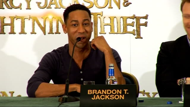 percy jackson and the lightning thief press conference coogan press conference sot talks of how he played his character jackson press conference sot... - greek mythology stock videos and b-roll footage