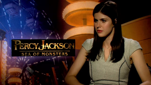 Percy Jackson Sea of Monsters Logan Lerman and Alexandra Daddario interviews Alexandra Daddario interview SOT