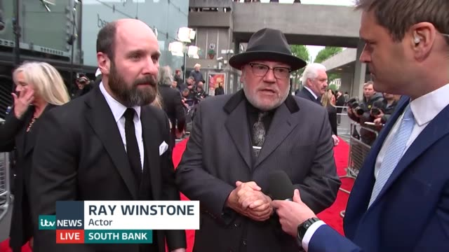 premiere of new boxing film jawbone england london ext ray winstone and johnny harris live interviews ex the south bank sot - ray winstone stock videos & royalty-free footage