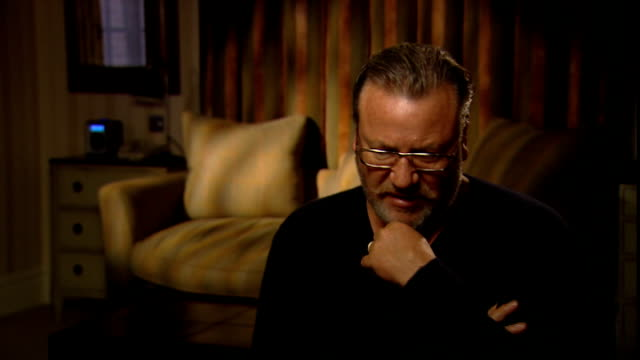 ray winstone interview on new film 44 inch chest compares this film with his other work / talks of working with such a great crew and cast /... - ray winstone stock videos & royalty-free footage