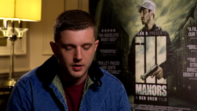 review of ben drew film 'ill manors' ben drew interview sot talks of working with ray winstone - ray winstone stock videos & royalty-free footage