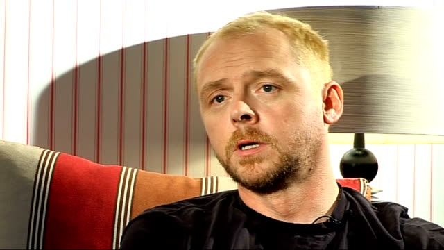 science fiction remakes opening in 2009 int simon pegg interview sot on not wanting to do an impression of james doohan - simon pegg stock videos & royalty-free footage