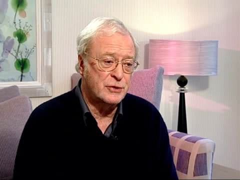 'sleuth' premiere: arrivals/caine interview; int sir michael caine interview sot - talks of differences between original version of 'sleuth' and the... - ローレンス オリビエ点の映像素材/bロール