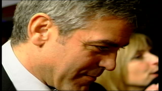 'syriana' george clooney r19020610 england london actor george clooney arriving at premiere clooney at live 8 press conference - george clooney stock videos and b-roll footage
