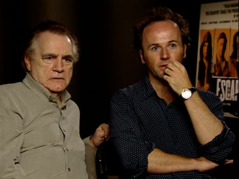 the escapist interview with stars brian cox and rupert wyatt interview sot on rupert writing the whole thing for brian and pressures that came with... - prison break stock videos & royalty-free footage