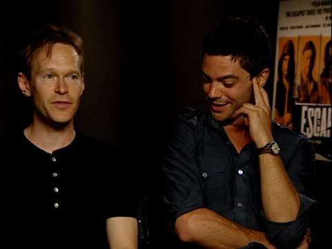 'The Escapist' Interview with stars ENGLAND London INT Steven Mackintosh and Dominic Cooper interview SOT On their characters how scared everyone was...