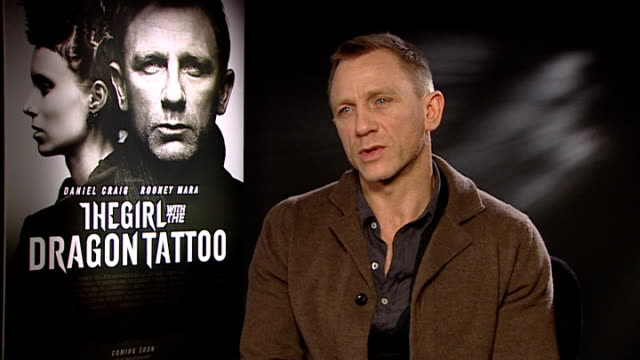 'the girl with the dragon tattoo' interviews daniel craig interview sot on the film the work and passion that gets put into it not there for coldest... - daniel craig actor stock videos & royalty-free footage