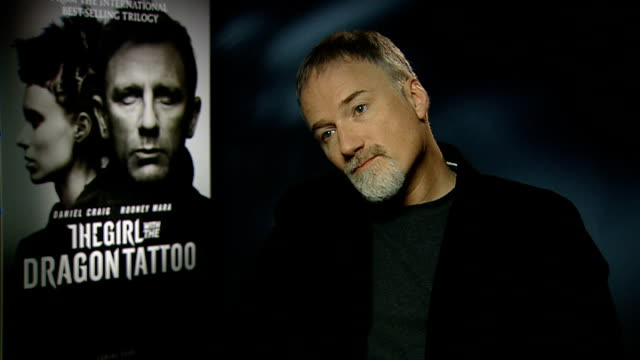 'the girl with the dragon tattoo' interviews david fincher interview sot on doubts about taking on the film central to reason to wanting to make it... - vlad tepes stock videos & royalty-free footage