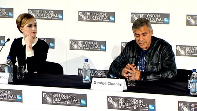 'The Ides of March' London premiere Cast press conference Clooney press conference SOT on directing want to continue to be creative in this industry...