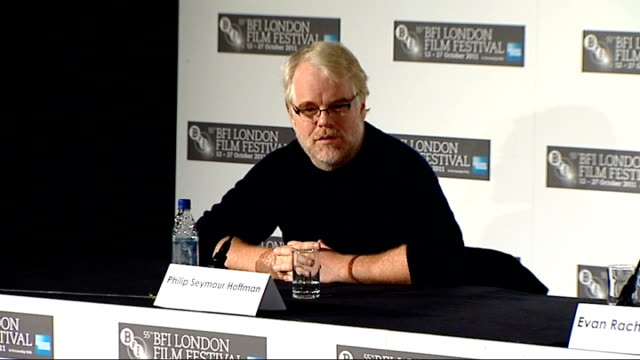'The Ides of March' London premiere Cast press conference Evan Rachel Wood press conference SOT no heroes or villains in the film Seymour Hoffman...