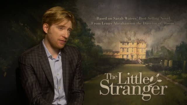 'the little stranger' junket with ruth wilson domhnall gleeson and lenny abrahamson england london int domhnall gleeson interview re 'the little... - lenny abrahamson stock videos and b-roll footage